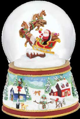 2021 Musical Snow Globe - Santa's Sleigh - ADVANCE SALE