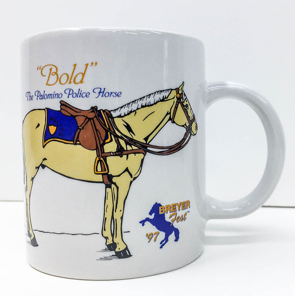 Breyerfest Coffee Mug ~ Bold - Police Horse - triple-mountain