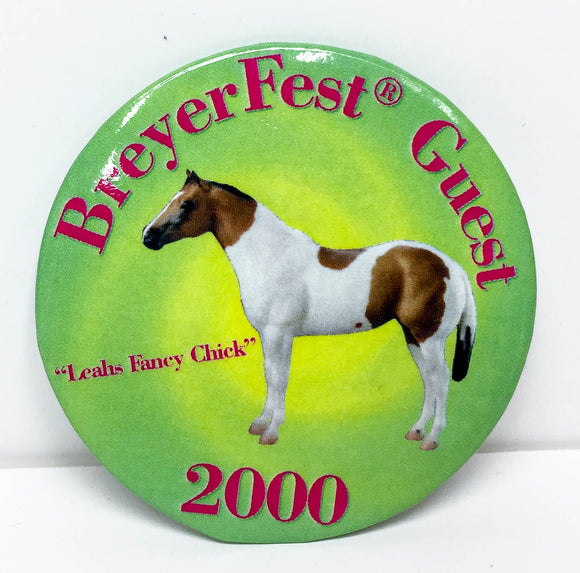 Button - Breyerfest 2000, Leah's Fancy Chick