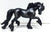 Friesian Mare - Dramatic Custom by Nan Wagner