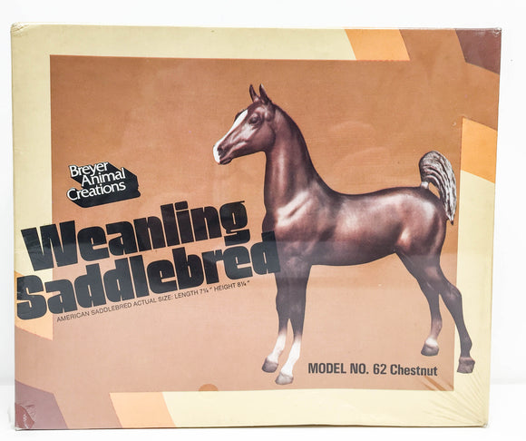 Saddlebred Weanling, Sorrel - SEALED BOX