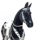 Large Champ, Black - Original Split Mane version w/ White Tack