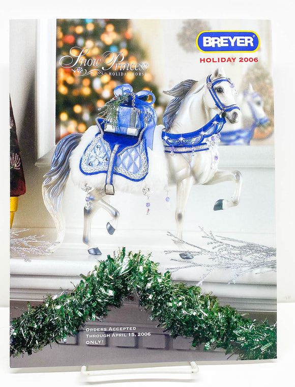 2006 Breyer Retailer Holiday Items Flyer - Snow Princess