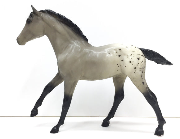 Action Stock Horse Foal, Grey Appaloosa VARIATION: Semi-Gloss
