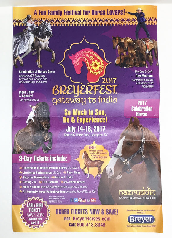 Breyerfest Promotional Poster 2017, Gateway to India