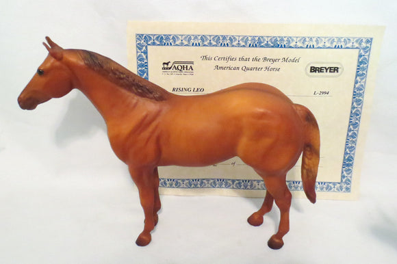 Ideal Quarter Horse ~ Progeny of Leo - Rare Early Version w/o Socks!
