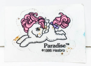 My Little Pony Flat Sticker ~ Paradise - 1985
