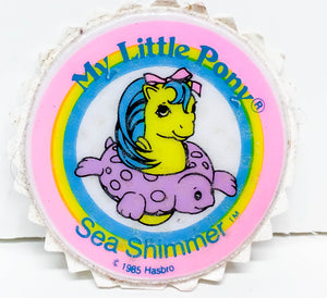 My Little Pony Puffy Sticker ~Sea Shimmer Baby Sea Pony -1984