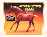 Action Stock Horse Foal, Sorrel w/ Cardboard Box & Brochure