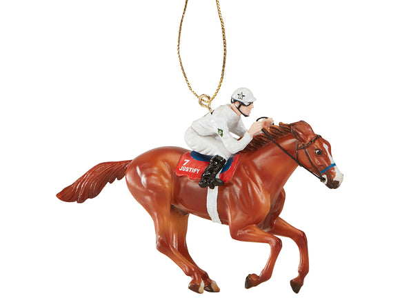2018 Holiday Ornament ~ Justify - Gambler's Choice Silk Color! - ADVANCE SALE