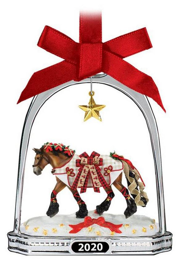 2020 Stirrup Ornament ~ Yuletide Greetings