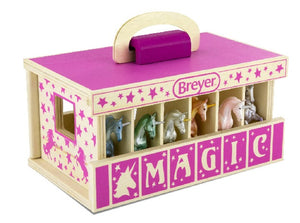 Breyer Farms Unicorn Magic Wooden Carry Stable with Unicorns - ADVANCE SALE