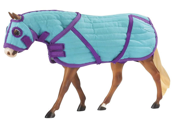 Quilted Stable Blanket and Hood