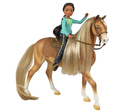 Chica Linda and Prudence - 1:12 Scale Set with Tack and Hair Brush - triple-mountain
