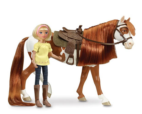 Boomerang and Abigail - 1:12 Scale Set with Tack and Hair Brush - ADVANCE SALE