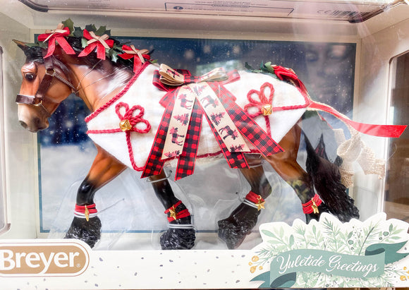 2020 Holiday Horse -  Shire Gelding ~ Yuletide Greetings