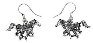 Happy Galloping Horses Drop Earrings