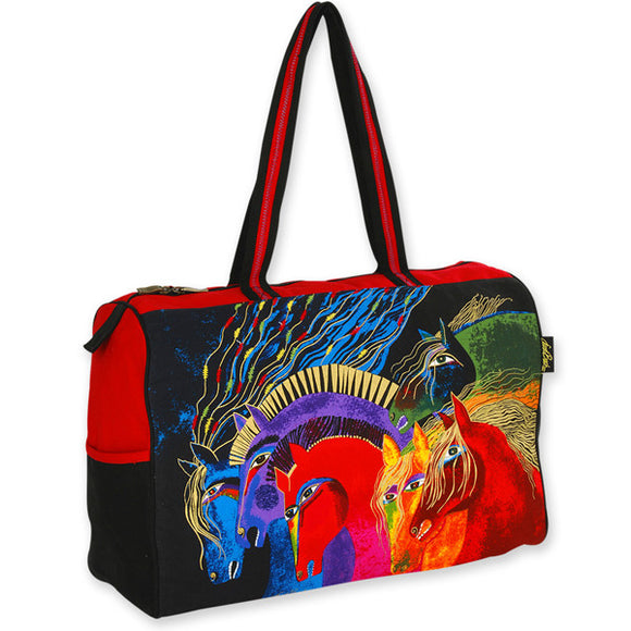 Wild Horses of Fire Large Travel Bag Luggage by Laurel Burch