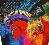 Wild Horses of Fire Medium Hobo Bag by Laurel Burch