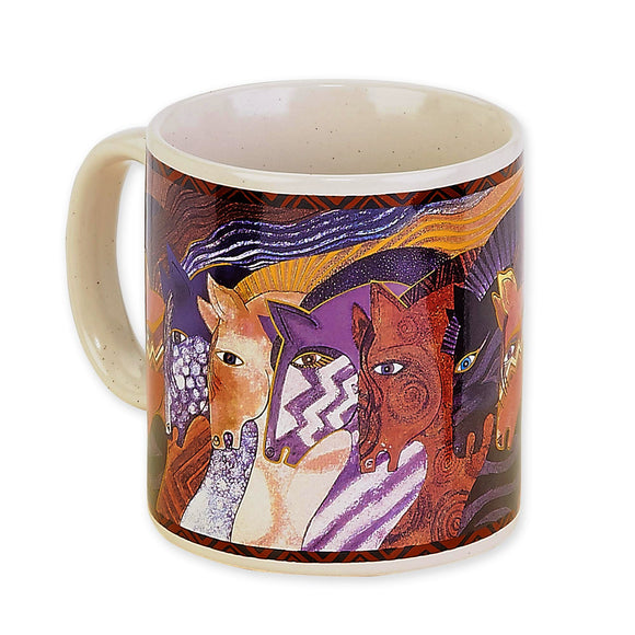Moroccan Mares Coffee Mug by Laurel Burch