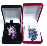 3D Bejeweled Horse Head - Purple - triple-mountain