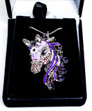 3D Bejeweled Horse Head - Purple