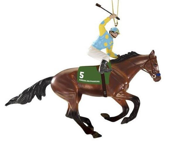 American Pharoah Christmas Ornament - triple-mountain
