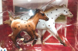 Thoroughbred and Cantering Foal, Appaloosa Horse and Foal Set