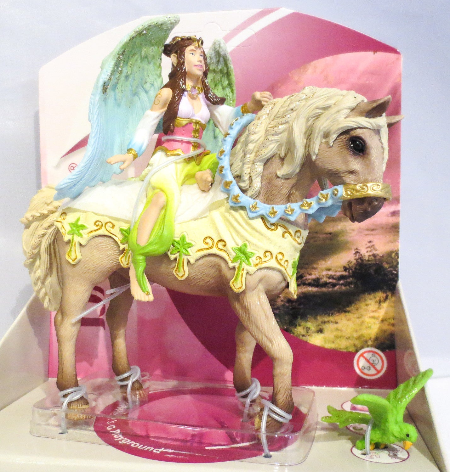 Fairy Surah with her Magical Horse - triple-mountain