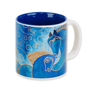 Teal Mares Coffee Mug  by Laurel Burch