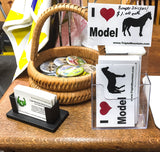 Bumper Sticker:  I Love Model Horses - triple-mountain