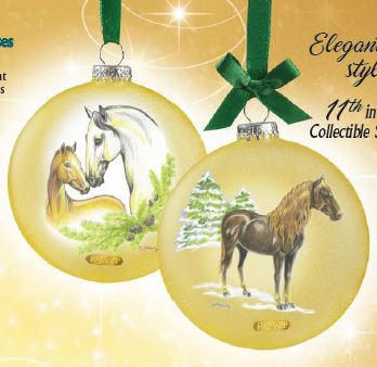 2019 Artist's Signature Ornament ~ Andalusians - ADVANCE SALE