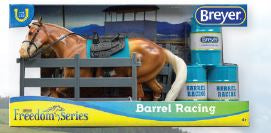Barrel Racing Set, Palomino Paint