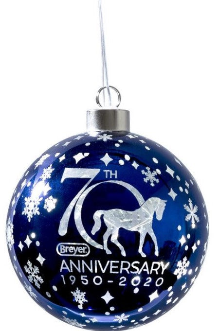 2020 Breyer 70th Anniversary Ornament, Blown Glass w/ Light Up Feature
