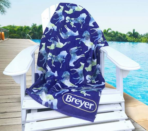 Breyer Beach Towel - Blue Horses (advance sale)