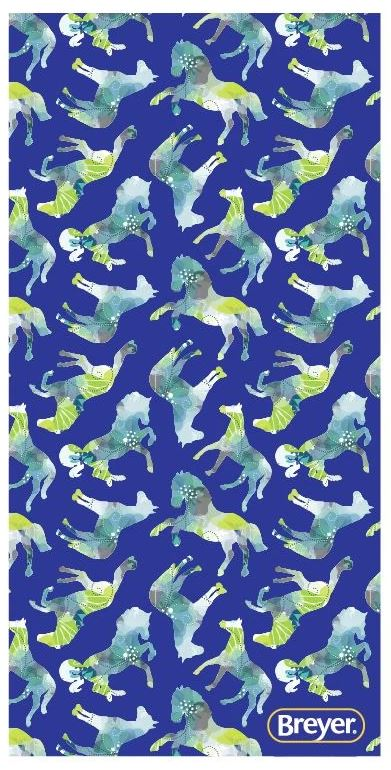 Breyer Beach Towel - Blue Horses