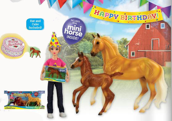 Harper and Warmblood Foal ~ Birthday at the Barn Set