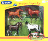 Super Sporty, set of Four Sport Horse Breeds