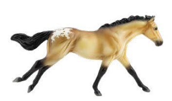 Galloping Thoroughbred ~ Buckskin Appaloosa - ADVANCE SALE