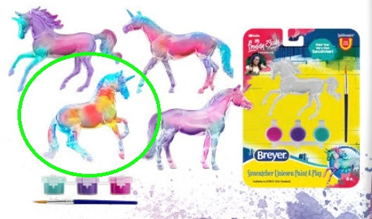 Alborozo - Suncatcher Unicorn Singles Paint & Play - ADVANCE SALE
