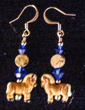 Dangly Beaded Horse Earrings