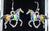 Colorful Horses Enameled Drop Earrings - triple-mountain