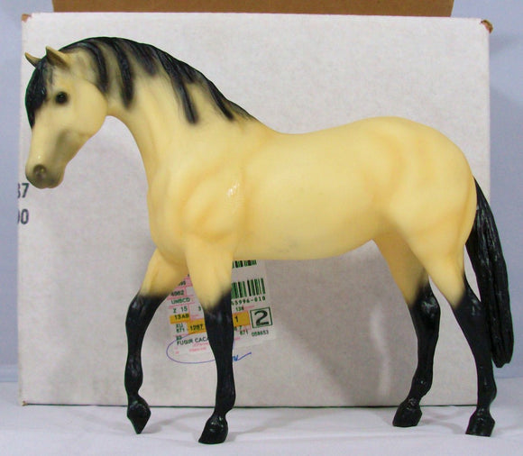 Foundation Stallion - Fugir Cacador, Lusitano, Buckskin Limited Edition w/ Box