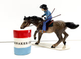 Barrel Racer w/ Rider and Barrel - triple-mountain