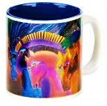 Wild Horses of Fire Coffee Mug by Laurel Burch