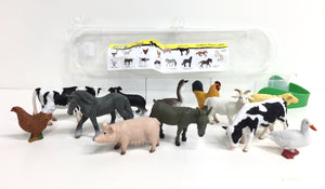 Box of Mini Farm Animals