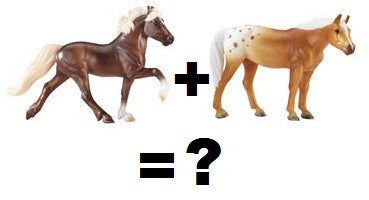 Mystery Foal Surprise set #7 ~ Icelandic, Appaloosa QH and ?