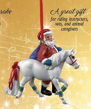 2019 Santa Ornament ~ Pony For Christmas - ADVANCE SALE