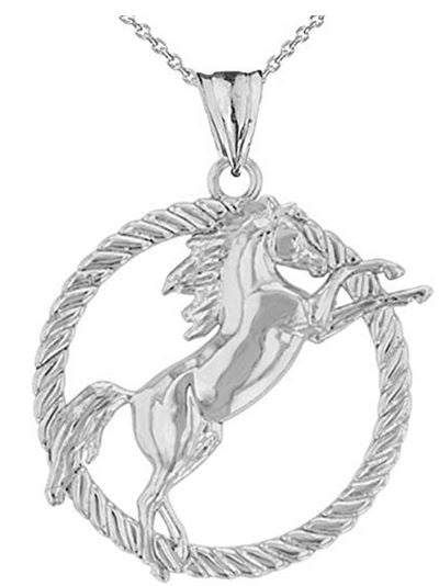 Sterling Silver Wild Stallion Necklace