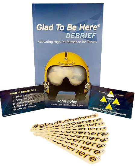 Glad To Be Here® Debrief Book and 10 Free Sticker Bundle